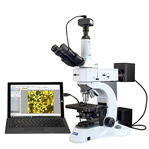 OMAX Metallurgical Infinity Polarizing Darkfield Microscope 50X-1500X+3.1MP CCD Digital Camera