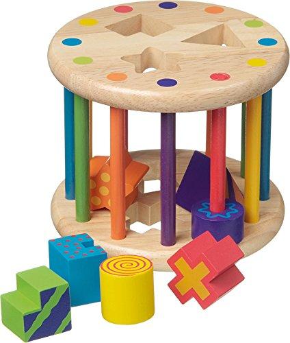New Classic Toys - 2042934 - Formes À Trier Et À Empiler - Boîte À Formes Avec 6 Formes Différentes