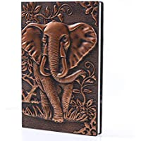 Textured PU Leather Hardcover 3D Embossed Journal Notebook (various)