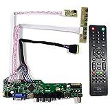 VSDISPLAY HD-MI VGA CVBS USB RF Audio LCD Controller Board Work for 14' 15.6' 17.3' 1600x900 B173RW01 N173FGE-L21 LP156WD1 LP140WD2 B140RW02 LTN156KT02 B156RW01 LP173WD1 40 Pin LVDS LCD Monitor