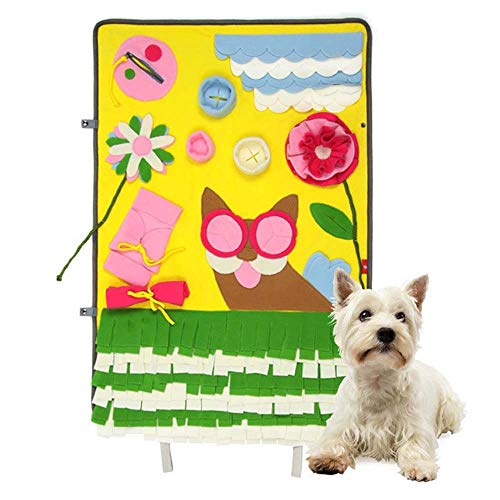 Arlt Yellow Dog Sniffing Dog Training Supplies Pet Pads Druck entlasten Game Pad Blanket Blanket Wash Sniff Sniff 60 * 90cm Kissen