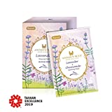 ANNIE'S WAY Lavender Chamomile Soothing Mask Stress Relieving Revitalizes and Moisturizing Skin for Better Sleep Suitable for All Skin Types (10 Sheets Pack)