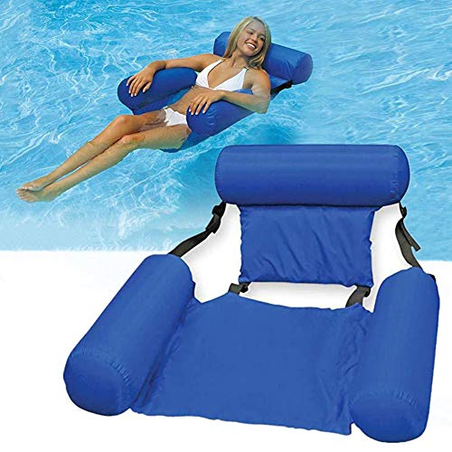 Hete-supply Schwimmstuhl, aufblasbarer Pool Float Lounge, Wasserstuhl, Pool Hängematte Floats, Pool Floats für Erwachsene