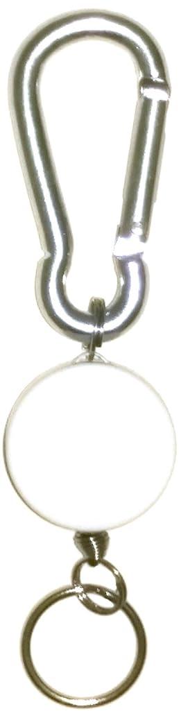 物理学者コントローラ株式会社Swing 収納式 リール キーホルダー ミニカラビナリールキー ホワイト S022WH