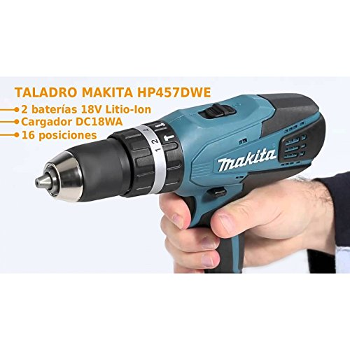 Makita 13mm Cordless Drill HP457DWE