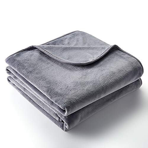 CHEE RAY 100% Waterproof Blanket, Furniture Cover and Protection, Reversible Double Layer Flannel Fleece, Designed for Indoor and Outdoor, Made for Human and Pets, Light Grey, 80x60 in