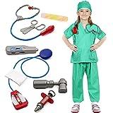 Tacobear Doctora Disfraz para Niños Enfermera Médico Accesorios Cirujano Disfraz de rol para Halloween Carnaval Fiesta