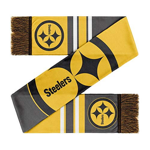 Forever Collectibles Pittsburgh Steelers Scarf Colourblock Big Logo Yellow/Black - One-Size