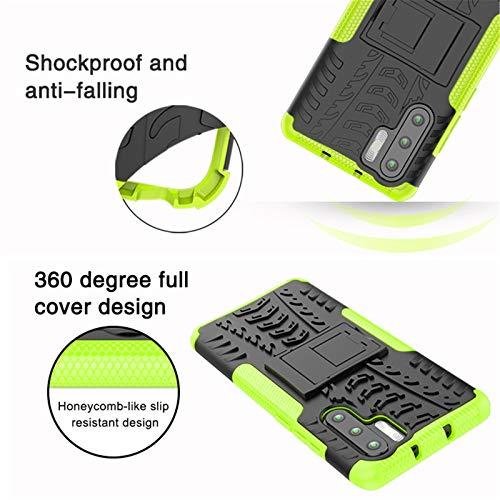 betterfon   Outdoor Handy Tasche Hybrid Case Schutz Hülle Panzer TPU Silikon Hard Cover Bumper für Huawei P30 Pro Grün