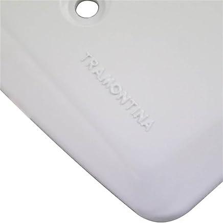 Placa de 1 Furo 9,5mm 4 x 4 Branca-TRAMONTINA-57105022