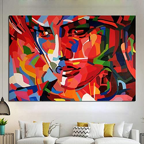Ik wil weten of ik een canvas op een wanddecoratieplakkaat moet drukken en een foto moet drukken om een frameloze schilderij in de woonkamer te versieren.
