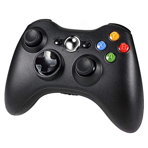 YANGMAN-BJ Wireless Controller, Xbox 360 Game Controller Gamepad, Buttons verbessertes ergonomisches Design Joystick für Microsoft Xbox & Slim 360 PC Windows 7,8,10 (Schwarz)