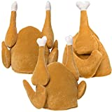 Simply Genius, 3 Pack, Plush Turkey Hats Thanksgiving Halloween Costume Holiday Trot Accessory
