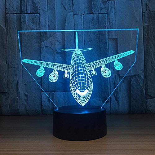 3D Led Visual Slaapkamer Sfeer Nachtlampje Kids USB Vliegtuigen Touch Bureau Lamp Baby Slaap Luchtvaartuig armaturen Home Decor Geschenken