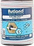 Rutland 19-151R Ruban pour Clôture Électrique - 12mm, Blanc, 13.97 x 13.97 x 17.78...