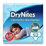 DryNites Calzoncillos Absorbentes para Niño, 8-15 Años (27-57 kg) - 4 Paquetes x 13 Unidades (52 Unidades)