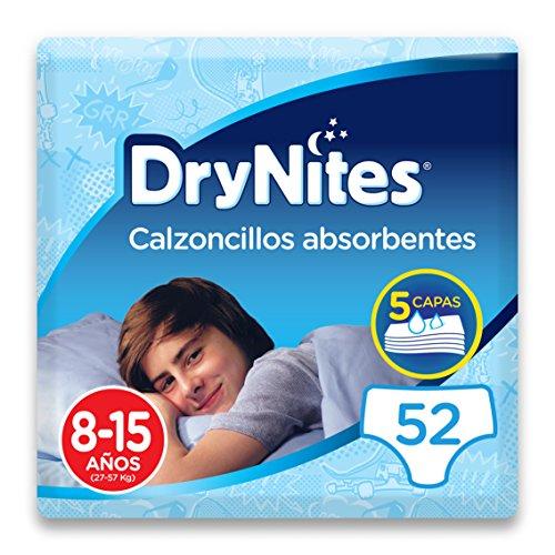 Huggies DryNites – Calzoncillos absorbentes para niños de 8-15 años (27-57 kg), 4 paquetes x 13 uds (52 unidades)