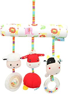 YECGJZN Crib toy Baby bed hanging bed bell baby stroller pendant toy newborn rattle cloth plush doll, bedside hanging toy