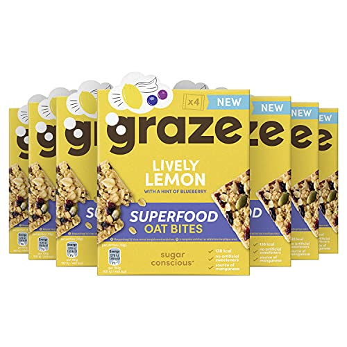 Graze Lively Lemon Superfood Oat Bites Havermoutrepen – 7 x 4 repen (120 g)
