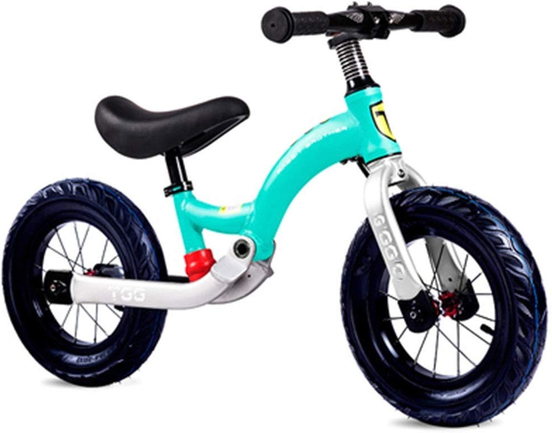 Monopattino Balance Bike for 2 3 4 5 6 Anni Ragazze, Telaio in Acciaio al autobonio Senza Pedale Equilibrio a Piedi Bicicletta da tuttienamento for Bambini e Bambini - Blu