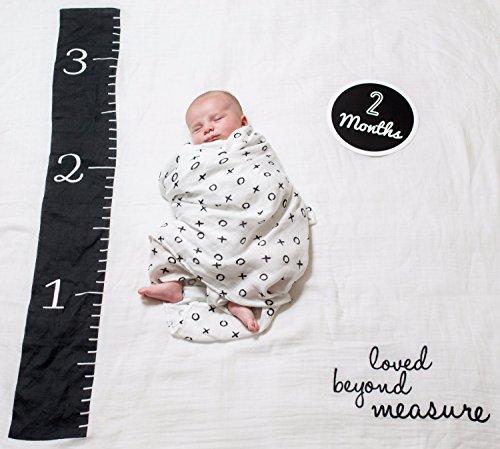 Lulujo 0628233455802 Baby's First Year Deluxe Blanket & Card Set, Loved Beyond Measure