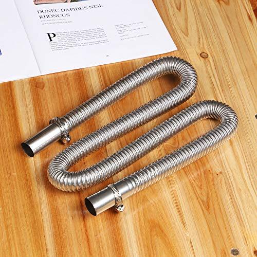 YORKING Air Heater Diesel Standheizung Abgasrohr 120cm Edelstahl Abgasschlauch Φ25mm