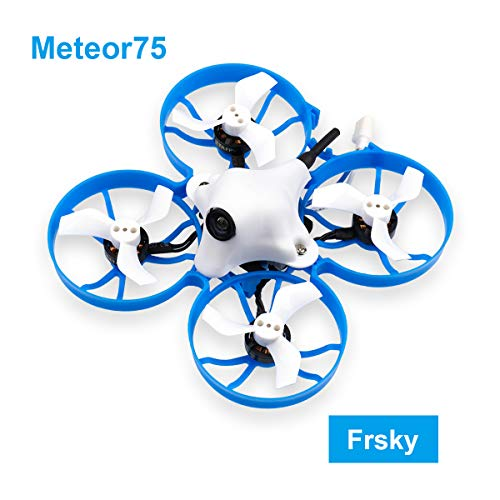 BETAFPV Meteor75 Frsky 1S Brushless Whoop Drone with F4 1-2S AIO FC BT2.0 Connector 1102 18000KV Motor M01 AIO Camera 25mW VTX for Tiny Whoop Micro FPV Racing Whoop Drone Quadcopter