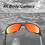 64GB OhO 4K Ultra HD Water Resistance Video Sunglasses, Sports Action Camera with Built-in 64GB Memory and Polarized UV400 Protection Safety Lenses,Unisex Sport Design.