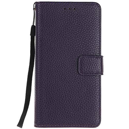 ocketcase® Wiko U Feel Lite Hülle, PU Leder Flip Case Wallet Stylish mit Standfunktion Schutzhülle (Litschi-Korn 10)