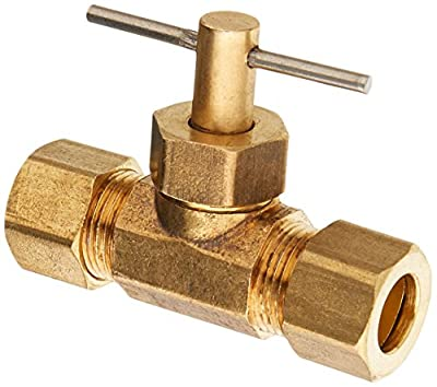 Low Lead Compression Straight Needle Valve from Anderson Metals Corp