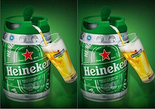 2x 5l Barril con grifo (de Heineken draught Keg 5{dc1241f6d5e82b2de064265b83073e6d103e61146442e5bf2ebf539115bcf30a}