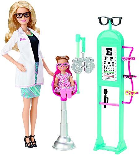 Barbie Mattel CMF42 - Modepuppen, Ich wäre gern, Augenärztin Spielset
