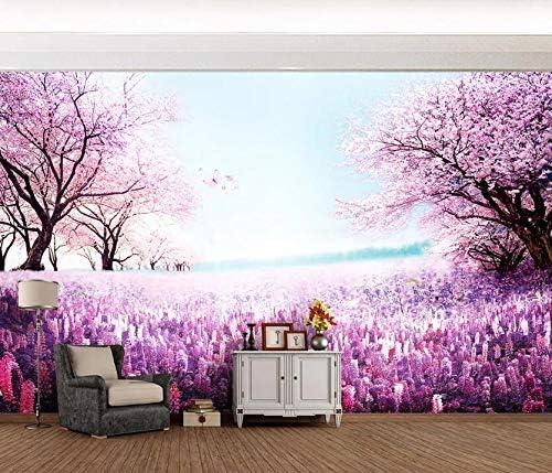 AJ WALLPAPER 希少 3D Purple Forest WC101 最新 Decal Paper Print Wall Deco