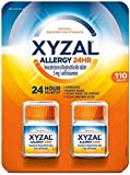 Xyzal Allergy Pills, 24-Hour Allergy Relief, Original Prescription Strength,55 Count (Pack of 2)