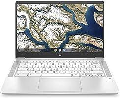 HP Chromebook 14-Inch HD Laptop, Intel Celeron N4000, 4 GB RAM, 32 GB eMMC, Chrome (14a-na0020nr, Ceramic White) (Renewed)