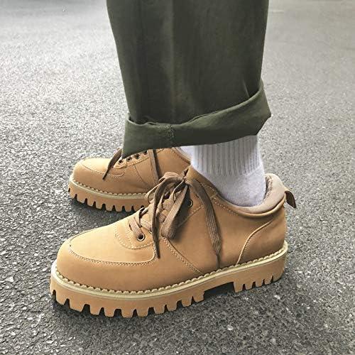 LOVDRAM Bottes Homme Super Beau Chaussures pour Hommes Bas pour Aider Les Chaussures Décontractées Chaussures à Semelle épaisse pour Hommes étudiants Mode Sauvage Jaune Bottes Martin