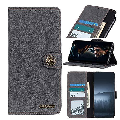 TOPOFU Funda para Samsung Galaxy Quantum 2,Funda Libro Cuero Carcasa con [Cierre Magnético] [Ranuras para Tarjetas],Estilo Retro Minimalista,Premium Flip Folio Cover Case-Negro