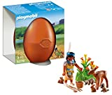 Playmobil - 5278 - Oeuf Orange - Indienne Avec Animaux