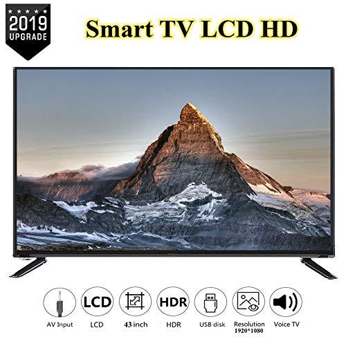 Wendry 43-inch HD LCD Smart-TV 1920 x 1080, multifunctionele 4K online televisie, ondersteunt netwerkkabel + wifi-ultra-HD-tv, EU.