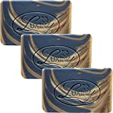 Men's Soap Bar, Luxiny Natural Bar Soap Walk in the Woods with Cedarwood Peppermint & Fir Oil is Handmade Body Soap Bar Palm Oil Free, Moisturizing, Vegan Castile Soap with Essential Oils (3 Pack)
