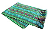 Del Mex Mexican Rebozo Shawl Blanket Doula (X-Large (9 ft x 5 ft), Green)