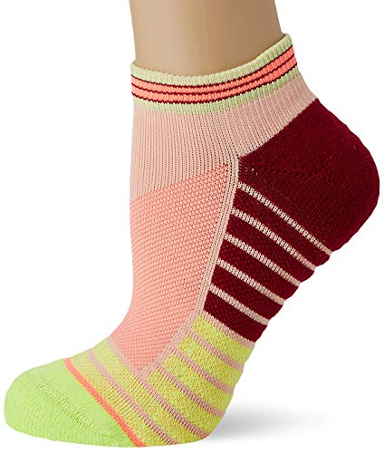 Stance Damen Athletic Fusion Record Low Socken, Neongelb/Boredeaux, 38-42 EU