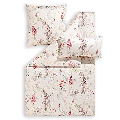 ESTELLA Bettwäsche Mariella | Kirsch | 135x200 + 80x80 cm | bügelfreie Interlock-Jersey-Qualität | pflegeleicht und trocknerfest | ideale Vier-Jahreszeiten-Bettwäsche | 100% Baumwolle