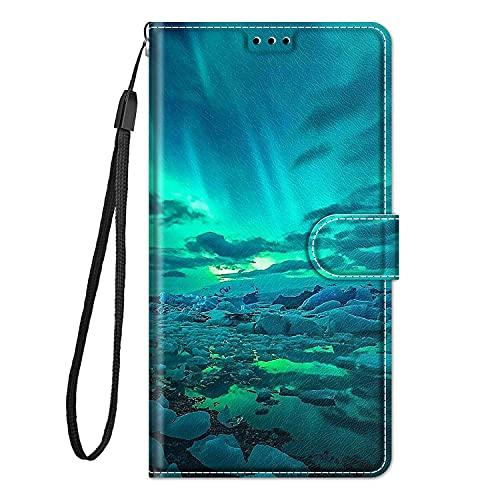 zl one Compatible con/reemplazo para Huawei Y5 (2018) / Y5 Prime (2018) / Honor Play 7 / Honor 7s piel sintética con ranuras para tarjetas pintadas (2018) / Funda con tapa (c04)