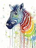 ZUIAIIUYA Pintar por Numeros Adultos Niños DIY Pintura por Números con Pinceles Y Pinturas,Regalos De Decoración del Hogar-Caballo De Color(16 * 20 Pulgadas, Sin Marco)