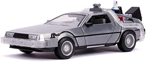 Delorean Time Machine with Lights - Flying Version, Back to The Future Part II - Jada 31468 - 1/24 Scale Diecast Model Toy...