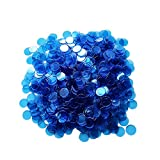 Yuanhe 500 Pieces 3/4 inch Transparent Bingo Counting Chips-Blue