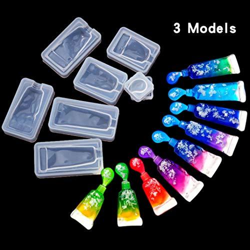 iSuperb 3 stks Epoxy hars vormen creatieve tandpasta vorm vormen siliconen vormen schattig pigment buis gieten vormen voor sieraden ambachtelijke DIY 3 vormen