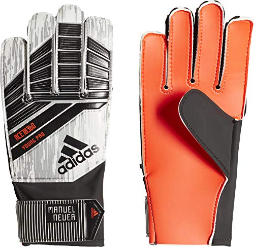 adidas Erwachsene Predator Young Pro Mamuel Neuer Torwarthandschuhe, Solar Red/Black/Silver Metallic/White, 9