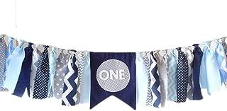 Navy Blue Highchair Banner 1st Birthday Decorations Banner, Navy, Grey, Gray, Blue, First Birthday Banner, Cake Smash, Photo Prop,boy Birthday Party Supplies, Baby Shower Decor Nautical Theme Decor